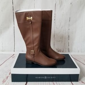 KAREN SCOTT Deliee Wide-Calf Riding Boots
